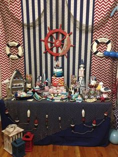 Nautical Birthday Party - so many great ideas here for a Sailor Party! Pirate Birthday, Boy Birthday, Birthday Ideas, Baby Shower Themes, Baby Boy Shower, Pirate Baby Shower Ideas, Sailor Party, Sailor Theme, Theme Mickey