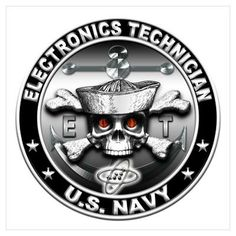 US NAVY Electronics Technician ET RATING HAT PATCH USS PIN UP ...