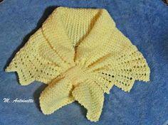 2 novelos de lã Nina ou equivalente para agulha nº 5 montagem: Coloque dois pontos na agulha. Suba em tricô, dando um aumento na prim...