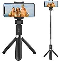 Black Selfie Stick Tripod Extendable Selfie Stick with Bluetooth Wireless Remote and Tripod Stand for iPhone X//8//8 Plus//iPhone 7//7 Plus//Galaxy Note 8//S8//S8