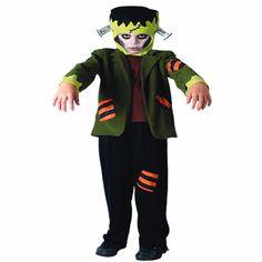 DisfracesMimo, disfraz de frankenstein niño varias tallas. Te convertirás en un monstruo temido por su altura y horrible aspecto, todos escaparan de ti en Halloween.Este disfraz es ideal para tus fiestas temáticas de disfraces miedo y terror para niño infantil.