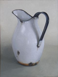 Diane McLean White pitcher II (2008), oil on canvas, 400 x 300 mm.