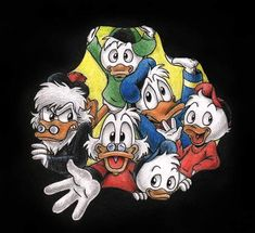 Fan Art Friday: DuckTales by techgnotic on DeviantArt Needle Felted Animals, Felt Animals, Disney Best Friends, Children's Comics, Walt Disney Characters, 1970s Cartoons, Uncle Scrooge, Mickey Mouse Cartoon, Muppet Babies