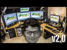 Best Gaming Room Tour v2.0 PC, XBOX, Racing Sim, Huge Screens, 3D Printe...