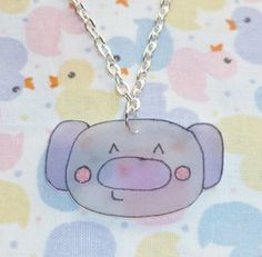 Kawaii Koala Necklace  Purple and Grey by NiNEFRUiTSPiE on Etsy, £2.50