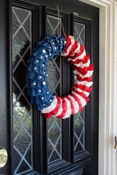 #papercraft #patriotic DIY Patriotic Wreath
