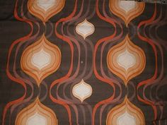 Vintage Poly Cotton Fabric in Bold Retro Tear Drop Design Play That Funky Music, How To Make Handbags, Drops Design, Dance The Night Away, Soft Suede, Geo, Animal Print Rug, 1970s, Cotton Fabric