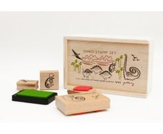 for tristan: Dinosaur Rubber Stamp Set