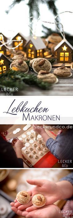 Gingerbread macaroons Source by leckerundco Macaroons Christmas, Christmas Sweets, Christmas Baking, Christmas Cookies, Christmas Ideas, Winter Desserts, Sweet Cakes, No Bake Cake, Cookie Decorating
