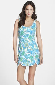 Lilly Pulitzer® 'Lola' Print Curved Hem Tank Dress available at #Nordstrom