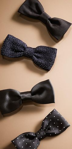 Cause bow ties are cool!! Textured and patterned silk bow ties - discover eveningwear for men from Burberry
