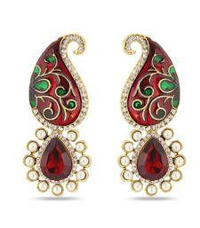 Buy Royal Meenakari American Diamond Studded Earrings danglers-drop online