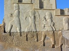 This is an example of a relief.  This is found on the walls of palaces at Persepolis and it shows the realism during that time.