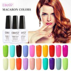 Elite99 Pure Gel Nail Polish Manicure Gloss Macaron Color Gel Varnish Long-lasting Soak Off UV Polish Gel Lacquer 10ML/PCS