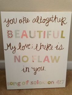 Song of Solomon Canvas by shelbystewardpaints on Etsy, $20.00  One of my favorite verses!