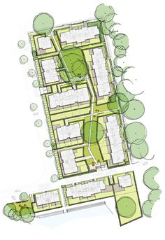 2 Masterplan Architecture, Landscape Architecture Design, Concept Architecture, Urban Design Diagram, Urban Design Plan, Parti Diagram, Drafting Drawing, Site Plans, Modern Landscaping