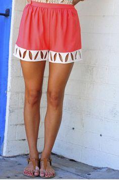 Shophopes cut-out shorts..
