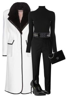 """""""Untitled #1194"""" by styledbyhkc ❤ liked on Polyvore featuring Thom Browne, Polo Ralph Lauren, Étoile Isabel Marant, Alexandre Vauthier, Yves Saint Laurent and Versace"""