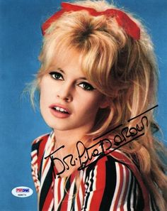 "BRIGITTE BARDOT SIGNED AUTOGRAPHED 8x10 PHOTO PSA/DNA. The item you are buying is a HAND SIGNED and PSA/DNA AUTHENTICATED 8"" x 10"" photo of Brigitte Bardot. The image(s) of the signed item is the EXACT item you will receive. 