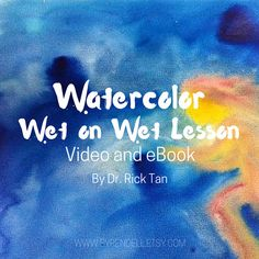 Watercolor Wet on Wet Lesson  Video and eBook par Syrendell sur Etsy