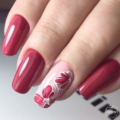 Elegant Gel Nail Art Designs for 2019 - Spring Nails Gel Nail Art Designs, Pedicure Designs, Nails Design, Red Nails, Hair And Nails, Cute Nails, Pretty Nails, Nagellack Trends, Nagel Gel