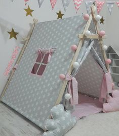 Posts about DIY written by CT Chan, aninspiring editors, Louisa, and Alexandra Diy Tipi, Kids Tents, Teepee Kids, Teepees, Teepee Tent, Sleepover Birthday Parties, Girl Sleepover, Diy Pour Chien, Diy For Kids