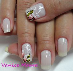 This looks easy. Creative Nail Designs, Pretty Nail Designs, Toe Nail Designs, Gel Nail Art, Nail Polish, Tropical Nail Art, Flower Nail Art, French Nails, Manicure And Pedicure