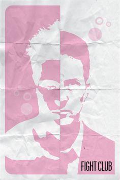 Fight Club - minimalistic movie posters