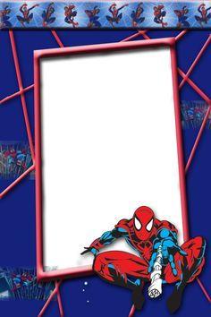 Kids Spider Man Transparent Photo Frame