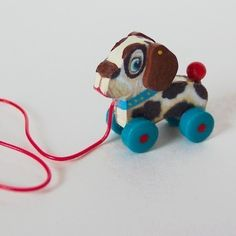 Miniature Dollhouse Dog Pull Toy KIT 101 by TwelfthDimension