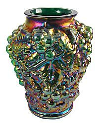 Fenton Art Glass - Preferred Second Emerald Green Carnival Glass Vase
