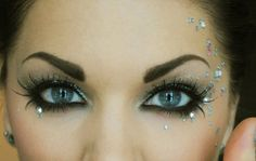 Rhinestone Eye Makeup