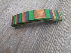 Holzhaarspange Birkenfunier gefärbt