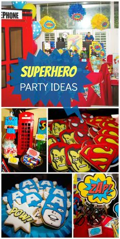 So many awesome details at this Superhero boy birthday party! See more party… Superman Party, Superman Birthday, Avengers Birthday, Superhero Birthday Party, 4th Birthday Parties, Birthday Fun, Birthday Ideas, Party Fiesta, Festa Party