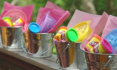 What a fun inexpensive idea for PARTY BAGS/LOOT BAGS! All you need is a small bucket, shapes & some Play-Doh for each child. Check out our other party bag ideas: http://www.under5s.co.nz/shop/Hot+Topics/Activities/Birthday+Parties/Party+Bag+Ideas.html