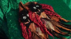 Felted arm warmers, woolen gloves, original design,Organic, Hand made, in USA, Fashion accessories,Wearable art,healthy fashion    This is one of kind wearable art.  Hand made from organic materials - super fine wool, silk, exotic fibers, trough the unique wet/nuno felting process.  Hand painted silk fabrics.  Original design work.      Made in mind to give every woman remarkable outfit!  Perfect gift.    Size M-L    The wool is not only original fibers, but also has been known from…