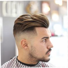 Modern Quiff Undercut Fade - Best Men's Hairstyles: Cool Haircuts For Men. Most Popular Short, Medium and Long Hairstyles For Guys Medium Hair Cuts, Medium Hair Styles, Short Hair Styles, Medium Length Mens Haircuts, Modern Mens Haircuts, Trendy Haircuts, High Fade Haircut, Medium Fade Haircut, Cool Hairstyles For Men