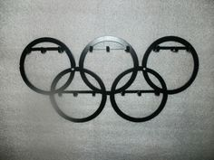 Large Wall Olympic Hook Organizer for Medals by ScharesMetalWorks, $35.00