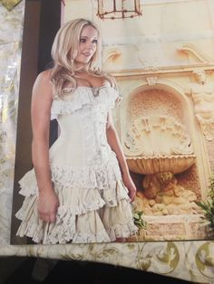 Cream lace corset dress at Into Camelot
