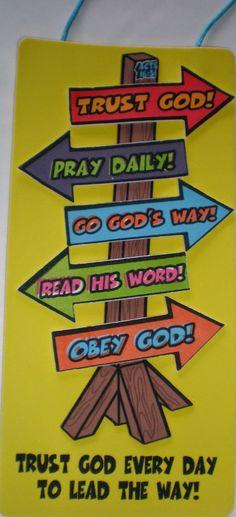Petersham Bible Book & Tract Depot: I Trust God Sign Craft Kit