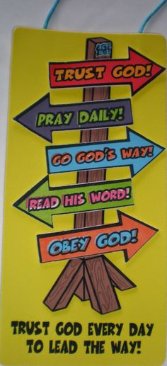 Petersham Bible Book & Tract Depot: I Trust God Sign Craft Kit