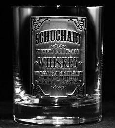 Custom Whiskey Label Rocks Glasses, Set of 2 by Crystal Imagery  on Scoutmob Shoppe