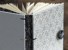 Blank Book with White Silk Fabric Cover by BooksByStephen on Etsy