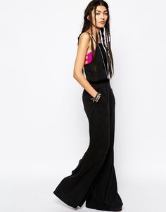 3cbca24cb06f Free People Tuxedo Jumpsuit with Wide Leg at asos.com