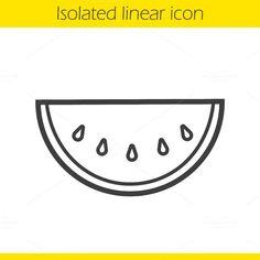 outline icon watermelon web creativemarket highlights