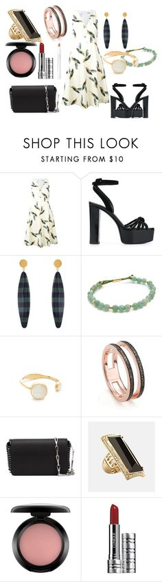 """Enchanting Look"" by hillarymaguire ❤ liked on Polyvore featuring Cacharel, Giuseppe Zanotti, Marni, Gorjana, Kate Spade, Monica Vinader, Paco Rabanne, Avenue, MAC Cosmetics and Clinique"