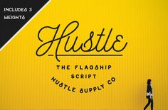 Check out my newest Brush Script Typeface (Yorkshire): After months of work, Hustle Script is finally ready to be released. Hustle Script is a mono-weight script typeface that includes 3