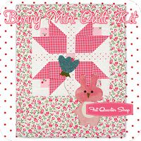 Bunny Mini Quilt Kit Featuring Pam Kitty Love by Pam Kitty Morning
