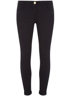 Navy cotton sateen trousers