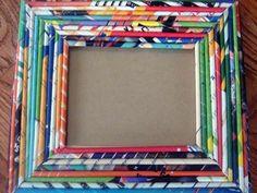 Cornici con il riciclo creativo, idee facili e veloci - Cornice di carta colorata